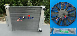 3 Core Aluminum Radiator + Fan For Jeep Cj7 With Chevy V8 Ls Swap 1976-1986 Mt