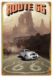 Route 66 Extra Large Sign With Classic Graham By Phil Hamilton 18x30 Rvg1492xl