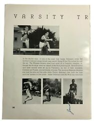 Jackie Robinson Signed Track And Field Yearbook Page Pre Dodgers Jsa Coa Autograph