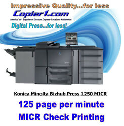 Konica Minolta Bizhub 1250P Printing Press for MICR Check Printing
