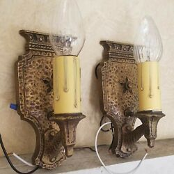 821b Antique Pair Gothic Ceiling Lamp Light Wall Sconces Bedroom Hall Fireplace