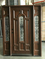 Solid Wood 1d2sl Entry Unit Pre-hung Andfinished Tmh7525-5-iron 5/0x6/8