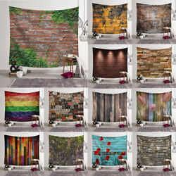Rustic Brick Wall Decorative Throw Fabric Tapestry Wall Hanging Art Dorm Decor