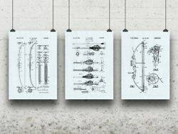 Archery Posters Set Of 3 Bow And Arrow Hunter Gift Bowhunting Marksman Gift