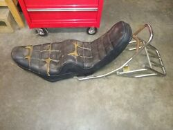 Xs850 King/queen Chopper Style Seat Sissy Bar And Rear Rack