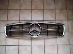 Mercedes Benz Early W107 350 280 380 450 560 Sl Slc Front Grill Chrome Star
