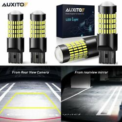 4X AUXITO 7443 7440 7444 W21W Car Reverse Backup Bulbs Lights Lamps 6000K White