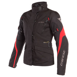 Womenand039s Jacket Motorcycle Dainese Tempest 2 D-dry Lady Black Red Waterproof