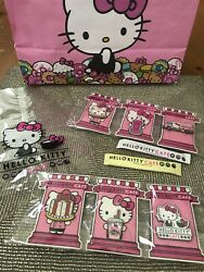 2019 Nip Sanrio Hello Kitty Grand Cafe Exclusive All 6 Pins Plus Extras Cat Bow
