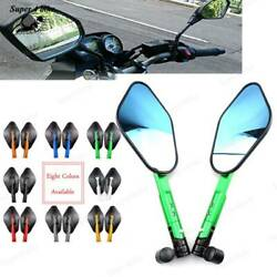 Motorcycle Side Mirrors Accessories Round For Kawasaki Ninja Zx 6r 7r 9r