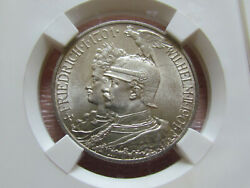German Empire 2 Mark 1901 200 Years Of Prussia Ms64 Silver