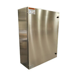 Control Panel Enclosure By Tecnomatic Stainless Steel 48x32x16 With Dead Front