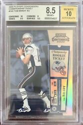 2000 playoff contenders tom brady Championship Ticket Bgs 8.5 Auto 10
