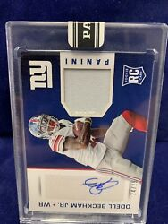 Odell Beckham Jr Rpa Autograph 2015 Panini Super Bowl Rookie Patch Auto 24/25 Rc