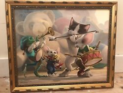 Rip Squeak Leonard Filgate Toy Room Band Giclee Canvas 16x20 Limited Edition