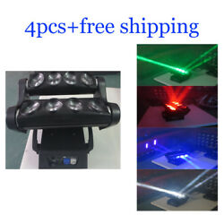 812w Rgbw 4 In 1 Led Beam Moving Head Wash Dj Spider Light 4pcs With Case