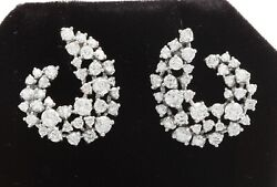 3.23 Carat Natural Vs2-si1 Diamonds In 14k Solid White Gold Studs Earrings