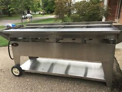 Lazy Man Model A4 Elite Gourmet Series Propane Gas Stainless Steel Mobile Grill