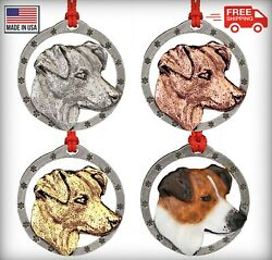 Creative Pewter Designs Jack Russel Terrier Dog Christmas Tree Ornament D106OR