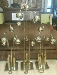 Best Space Age / Atomic Era 60and039s Vintage Floor Lamps Torino Set Of 3