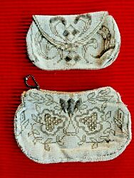 2 Vintage Art Nouveau Made in Czechoslovakia Micro Beaded Clutch Purses $19.99