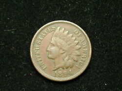 Must Go Sale Xf 1894 Indian Head Cent Penny W/ Diamonds And Full Liberty 263v