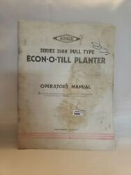 Hiniker Series 3500 Pull Type Econo-o-till Planter Owners Operators Manual