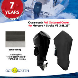 Oceansouth Outboard Storage Full Cover For Mercury 4 Stroke V6 3.4l 25