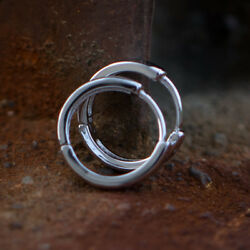 Small Solid 2pc High Quality Sterling Silver Mini Huggie Hoop Earrings For Men