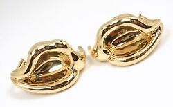 Rare Vintage Andco Peretti 18k Yellow Gold Calla Lily Flower Clip Earrings