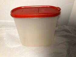 Tupperware Clear Storage Container w Red Lid 7quot; High Pour spout