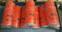 Lot Of 9, Engine Oil Filter-fuel Filter Baldwin Bf1210 Free Shipping Within Us