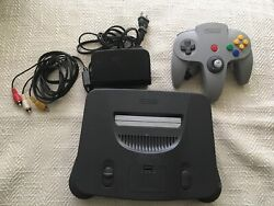 Nintendo 64 N64 Game Console System + Controller Cords Working Play Us And Japan