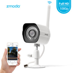 Zmodo 1080p WiFi Outdoor Home Security CameraNight Vision Remote Monitoring
