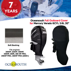 Oceansouth Outboard Full Storage Cover For Mercury 6cyl 2.6l 200hp-400hp 20 Leg