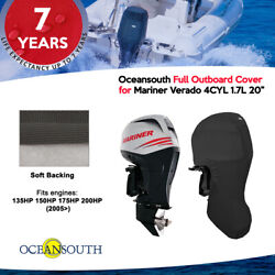 Oceansouth Outboard Storage Full Cover For Mariner 4cyl 1.7l 135hp-200hp 20 Leg