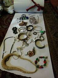 23pc Vintage/now Wearable No Junk Drawer Jewelry Unsearcheduntested Freeusaship