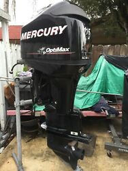 2013 Mercury 115 hp Optimax Outboard Motor Low Hours