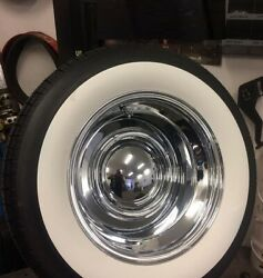 For 15 Tires / Wheels 3 Wide Big Large White Walls Set 2+2 Of4 Wide Boots