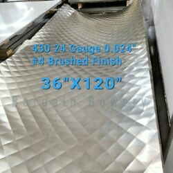 Food Truck And Restaurant Diamond Quilted Stainless Steel 24 Ga 3and039 X 10and039 4 Quilt