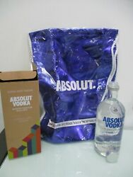 Absolut Vodka Gift Case Of 700 Ml Empty Glass Bottle With A String Bag, Israel.