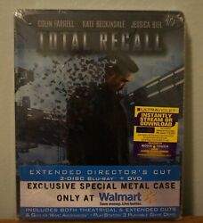 New Total Recall, Limited Edition Exclusive Steelbook, Blu-ray Anddvd