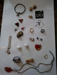 30 Pc Vintage/now Wearable No Junk Drawer Jewelry Unsearcheduntested Freeusaship