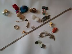 32 Pc Vintage/now Wearable No Junk Drawer Jewelry Unsearcheduntested Freeusaship