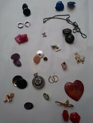 33pc Vintage/now Wearable No Junk Drawer Jewelry Unsearcheduntested Freeusaship