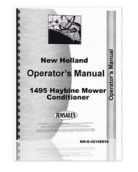 New Holland 1495 Haybine Mower Conditioner Operators Owners Manual
