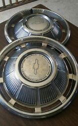 1969 Chevy Chevrolet Passenger Car 14 Inch Hubcaps Wheel Covers