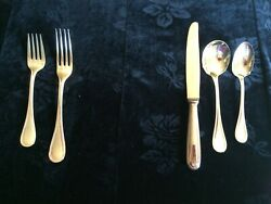 Christolfe Silver Plate Flatware 6 Place Settings 5 Pieces