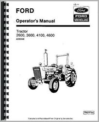Ford 3600 4100 4600 2600 Tractor Operators Owners Manual 1975-81