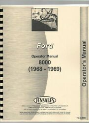 Ford 8000 Tractor Operators Owners Manual 1968-69